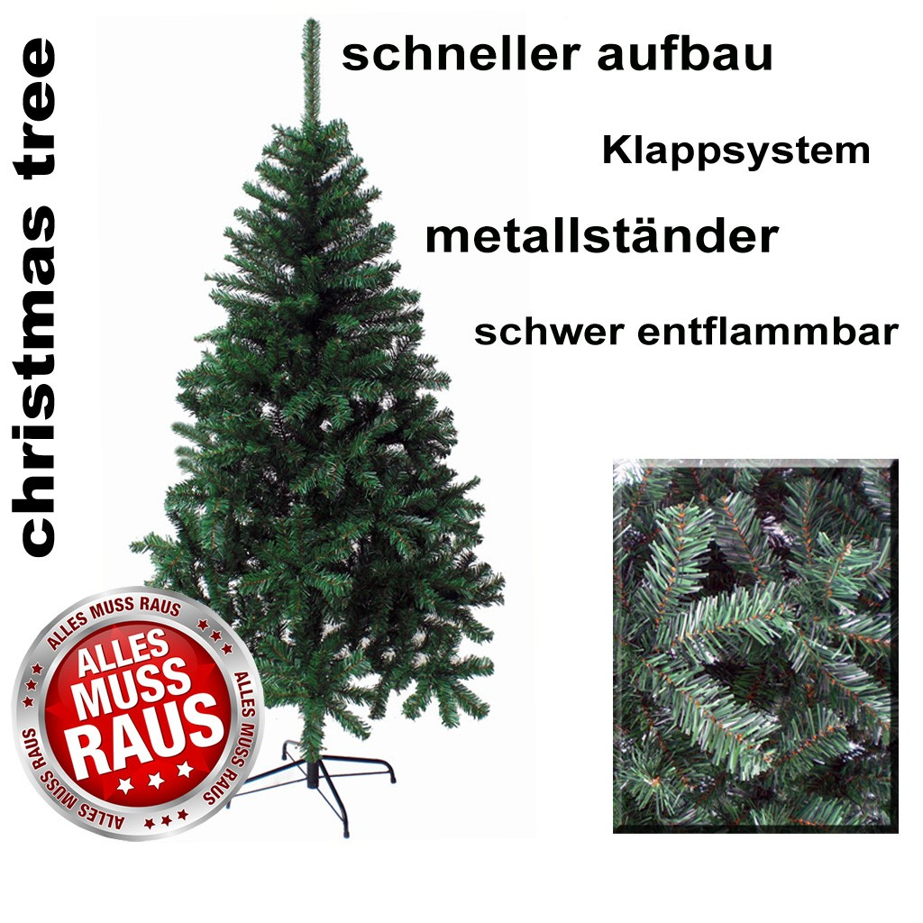 k nstlicher weihnachtsbaum christbaum tannenbaum 210 cm tanne baum kiefer ebay. Black Bedroom Furniture Sets. Home Design Ideas