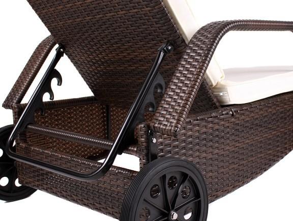 xxl ca 160 kg tragf hige poly rattan gartenliege sonnenliege liegestuhl liege ebay. Black Bedroom Furniture Sets. Home Design Ideas