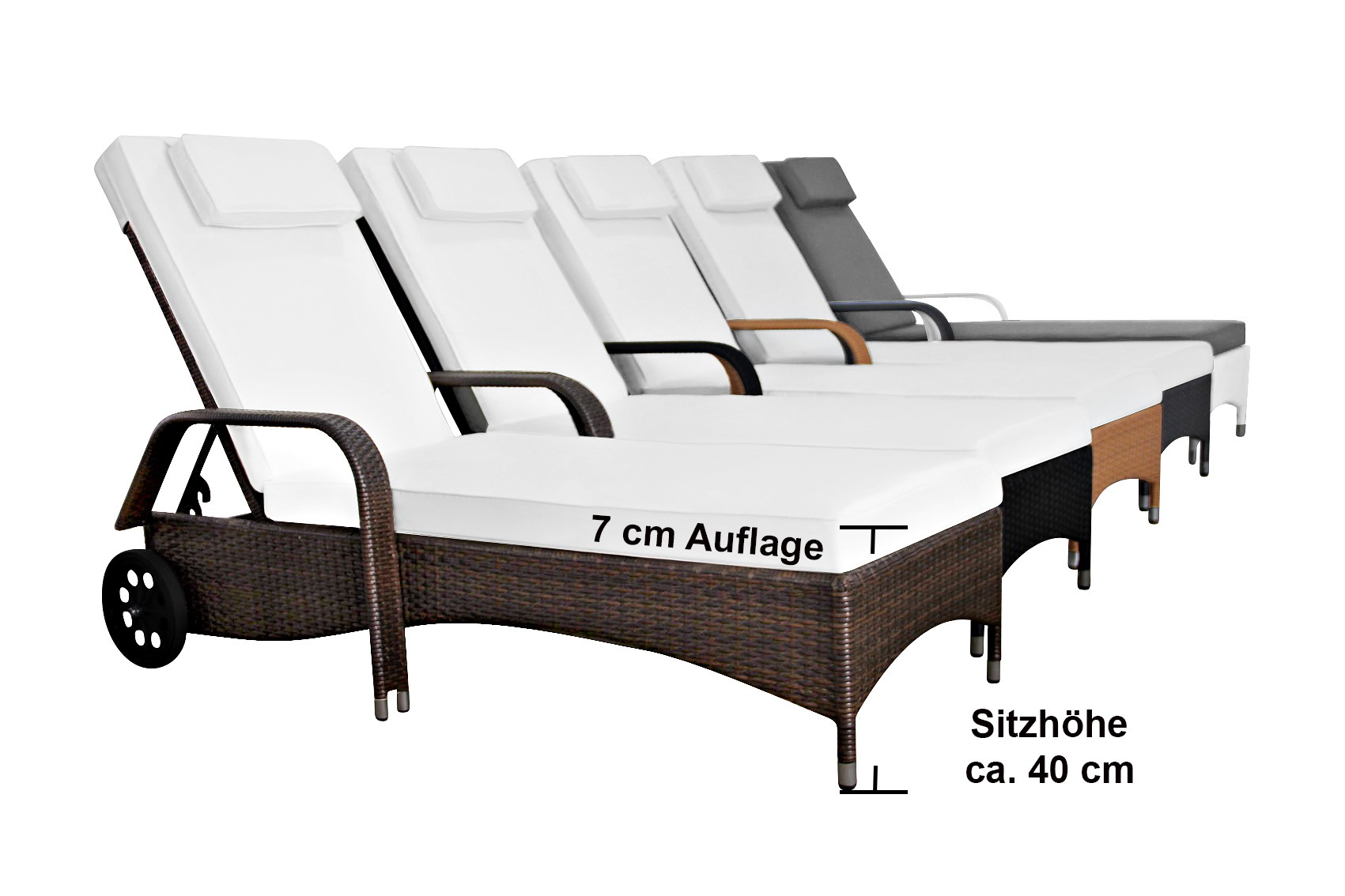 sonnenliege toscana farbe weiss gartenm bel rattan sonnenliegen. Black Bedroom Furniture Sets. Home Design Ideas