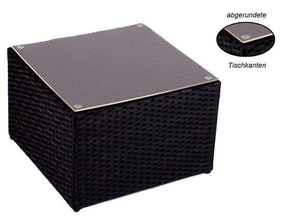 rattan beistelltisch hocker tisch polyrattan liege sonnenliege garten schwarz ebay. Black Bedroom Furniture Sets. Home Design Ideas