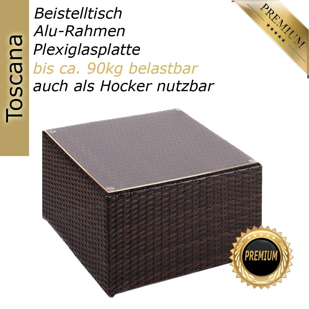 rattan beistelltisch hocker tisch polyrattan liege sonnenliege gartenm bel ebay. Black Bedroom Furniture Sets. Home Design Ideas