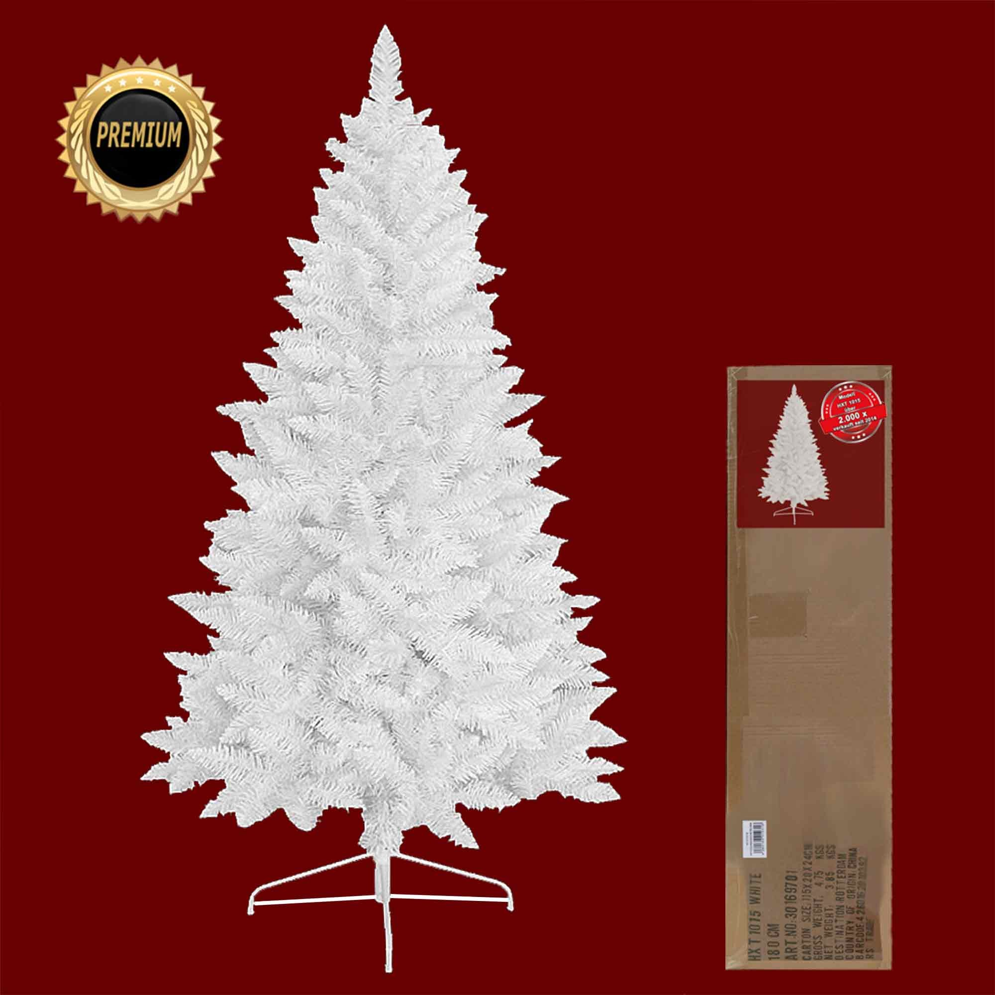 k nstlicher weihnachtsbaum christbaum 120 210 cm tannenbaum weiss ebay. Black Bedroom Furniture Sets. Home Design Ideas