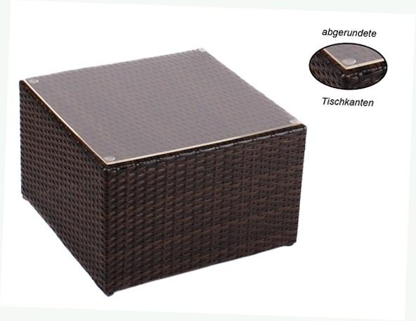 Gartenmobel Aus Holz Richtig Pflegen : Beistelltisch TOSCANA mit Plexiglasplatte und 4 höhenverstellbare