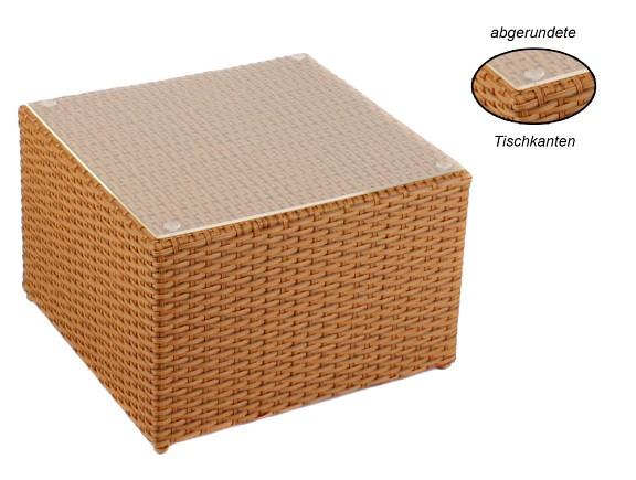 Gartenmobel Aus Rattan Kunststoff : Beistelltisch Farbe Natur GartenmöbelRattan Beistelltisch